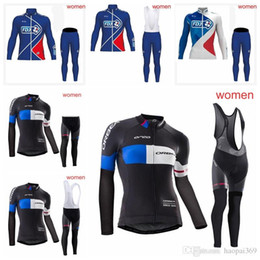 FDJ Women team Cycling long Sleeves jersey bib pants sets mountain bike  clothes breathable bicycle sportswear accept mix size 1108L 1aad9a9ab