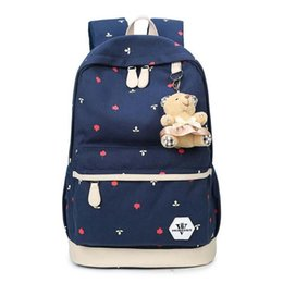 $enCountryForm.capitalKeyWord NZ - Women Backpacks Canvas Double Shoulder Bags For Lady Casual Printing Women Backpacks Quality Students School Bags