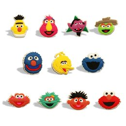 $enCountryForm.capitalKeyWord Australia - 25pcs lot Sesame Street PVC Fridge Magnets Elmo Cookie Monster Magnetic Stickers Cute Toy Magnets Kids Gift Home Decor