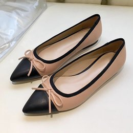 $enCountryForm.capitalKeyWord Australia - High quality sexy pointed flat shoes,womens ballet shoes,fashion party dress shoes, casual dress leather shoes,breathable and comfortabl qj