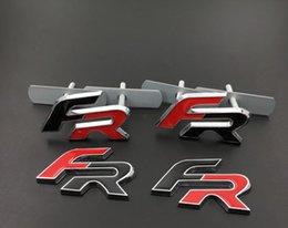 Nouveau 3D Métal FR Autocollants Auto Grille Badge Emblème Style De Voiture pour Seat Leon FR + Cupra Ibiza Altea Exeo Formule Accessoire