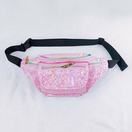 $enCountryForm.capitalKeyWord Australia - Fashio Women Bag Rainbow PVC Laser Transparent Fanny Pack For Lady Bum Purse Waist Bag Lovely Chest