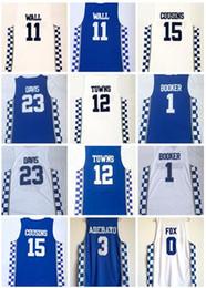 Fox wear online shopping - Kentucky College mens ADEBAYO WALL COUSINS FOX Towns BAMBA HOWARD Doncic FREDETTE BOOKER DAVIS Basketball Wears