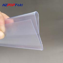 Plastic Glasses Wholesale Prices Australia - Plastic PVC Shelf Data Strips S N Type on Merchandise Price Talker Sign Display Label Card Holder for Store Glass Rack 100pcs