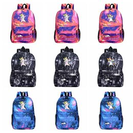 School Star online shopping - Cartoon Unicorn Backpack Galaxy Print Shoulders Kids Children School Bag Travel Camping Backpack High Capacity Styles HHA485