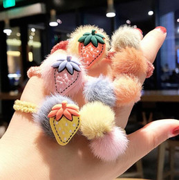 hair fur Australia - Hot Sale Korean Style Girls Cute Trendy Soft Fake Rabbit Fur Elastic Hair Rope Hair Band Hair Accessories