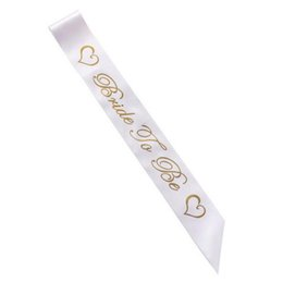 $enCountryForm.capitalKeyWord Australia - For Bachelorette Women Sashes Gold Letter Bride To Be Satin Sash Bridal Shower Wedding Hen Party Decoration Supplies Creative