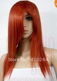 $enCountryForm.capitalKeyWord Australia - Fine free shipping Red Brown Medium Wig with Fringe Lady Hair Wig Cosplay Wigs W1128