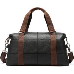 $enCountryForm.capitalKeyWord NZ - Men Travel Bags Genuine Leather Foldable Carry on Bags Weekend Bag Men Duffel Bag for Hand Luggage Large Totes
