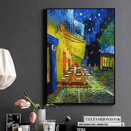 $enCountryForm.capitalKeyWord NZ - Night Cafe Cafedusoir Van Gogh Reproductions Handpainted Abstract Landscape Art Oil Painting On Canvas Wall Art Home Decor High Quality l53