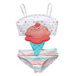 $enCountryForm.capitalKeyWord Australia - Baby One-Pieces Swimwear cartoon Swimming Clothing kids girl cute Embroidery ice cream swimsuit children Bathing suit Roupa de Banho 6M-8T