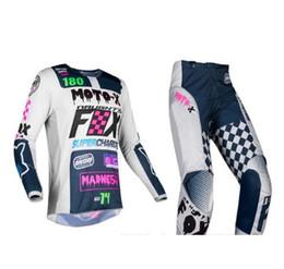 Dark Blue Suits Australia - Free Shipping 2019 NAUGHTY FOX Adult MX 180 Czar Light Grey Jersey Pants Combo Motocross Suit Dirt Bike Racing Gear Set