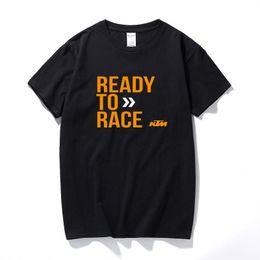 $enCountryForm.capitalKeyWord Australia - Top Summer Ready To Race T-Shirt Biker Motorcycle Rider Cotton Short Sleeve T shirt Camisetas Hombre Tee shirt homme