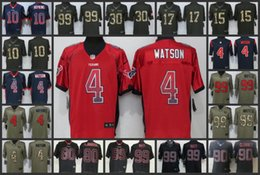 9188575c9 Houston Men Texans Jersey  4 Deshaun Watson 90 Jadeveon Clowney 99 J.J. Watt  10 DeAndre Hopkins Women Youth Football Jerseys