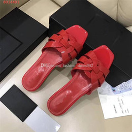 $enCountryForm.capitalKeyWord Australia - Women Luxury Designer Jelly Patent Leather Sandals Square High Heel Studs Retro Shoes Genuine Leather Brand Summer Slides Outside Slipper