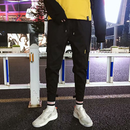 Wholesale army print cargo pants resale online – Pants Men Letter Printed Pockets Leisure Simple Fashion Style Trousers Mens Cargo Pant with Colors Asian Size