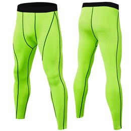 $enCountryForm.capitalKeyWord NZ - Fashion-Wholesale 2019 Compression Pants Men Muscle Training Tights Gym Pants Running Joggers Fitness Trousers Leggings Sport Jogging Pants