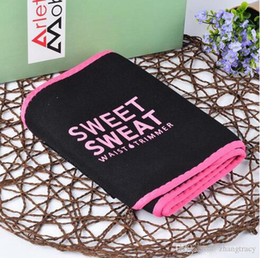 Wholesale Ultra-thin models Sweet Sweat Premium Waist Trimmer Unisex Belt Slimmer Exercise Waist Wrap With Retail Package 3 Colors 3 Sizes CE