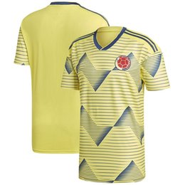 c42944241 Men Colombia New National Team Soccer 2019 Home Replica Blank Football  Jersey Yellow T Shirts Size S-XL