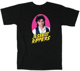 Wholesale black full shirt wrinkle free for sale – custom Full House Uncle Jesse quot Jesse and the Rippers quot T shirt DVD shirtFunny Unisex Casual Tshirt