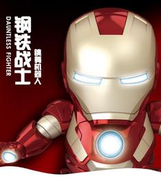 $enCountryForm.capitalKeyWord Australia - new 2019 25cmLarge Avengers 4 Dancing Iron Man Robot Light Music Electric Toys action figure toys
