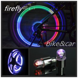 lights for motorcycles wheels 2019 - Light and Shock Sensation Firefly Lamps Self-induction Flash Wheel Tire Valve LED Lamps for Car Motorcycle Bike Tire Lig