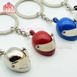 moto key 2019 - Hot Mini Motorcycle Helmet Keychain Funny Key Ring Men's Gift Moto Accessories Collection Souvenir (Helmet shape Ke