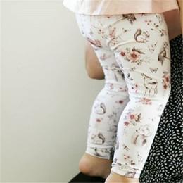 $enCountryForm.capitalKeyWord Canada - 2019 hot sale Floral Printing Baby Long Pants New Fashion Kids Cartoon Flower Clothes Bottoms Leggings Pants Newborn Trousers