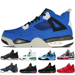 55fb985d2c94 4 4s Travis Scotts Cactus Jack Mens Basketball Shoes Raptors Kaws Denim  Eminem Pure Money Royalty Cavs men sports sneakers designer trainers