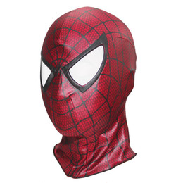 Kids Face Mask Red Australia - Super Spiderman Cosplay Hood Full Head Mask Halloween Masks Adult Kids Animal Costumes Cosplay Mask Deadpool Masks