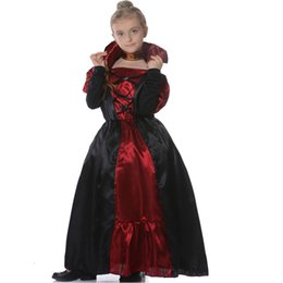 Wholesale dress beauty queen resale online – Kids Honor Princess th century Costumes Medieval Queen Performance Clothing Halloween Masquerade Party Beauty Cosplay Dress