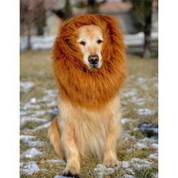 $enCountryForm.capitalKeyWord Australia - Pet Costume Dog Lion Wigs Mane Hair Festival Party Fancy Dress Halloween Costume pet lion hair,pet hair accessories - Brown