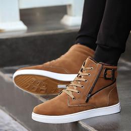 Мода Мужская обувь противоскользящее дно согреться лыжные ботинки скольжения на ботильоны для мужчин удобные и мягкие плюшевые зимняя обувь на Распродаже