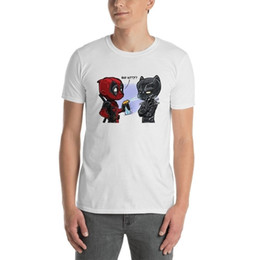 f2b58a3dd New Bad Kitty - Deadpool & Black Panther Men's Tee Shirt Clothing Size S-3XL