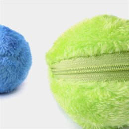 down tools NZ - Automatic Rolling Ball Plush ball practical balls electrical ball cleaning tools portable creative balls