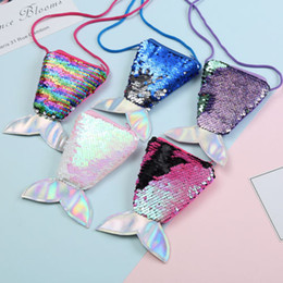 $enCountryForm.capitalKeyWord Australia - New Chic Mermaid Girl Children Sequins Money Hand Bag Mini Coin Wallet Purse