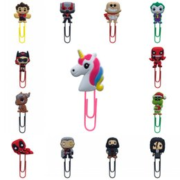 Figures Australia - 1pcs Bookmarks for Kids Cartoon Mini Figures Book Mark Paper Clips for School Teacher Office Supply Party Gift