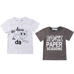 Baby Girl Summer Suits Australia - 2018 Newborn Kids Baby Boy Girl Tops Casual Letter Paper Shark Short Sleeves Summer T-shirt Outfit Clothes Set