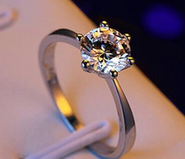 Rose Ring Austria Australia - Manufacturer wholesale six claw gold ring Austria crystal zircon ring Christmas gift for women wedding jewelry rings new R666