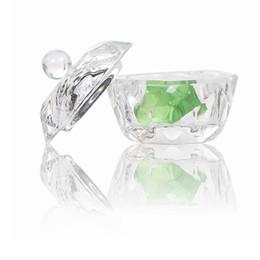 $enCountryForm.capitalKeyWord Australia - Crystal Glass Dappen Dish Lid Bowl Cup Acrylic Nail Art Equipment Mini Bowl Cups Crystal Glass Dish Nail Art Tools