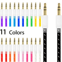 Wholesale iphone fabric braided cords for sale - Group buy 1m FT Colorful Fabric nylon braided Auxiliary Aux Audio Cable mm Jack Cord for iphone ipod for samsung mp3