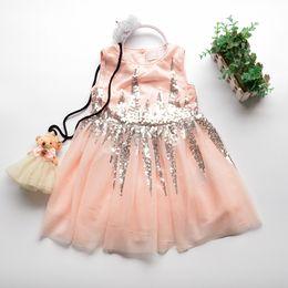 78268c9f823dc9 Spring Girl Lace tutu Dress Kids Clothing Princess Sequins Party Dress  Children Sleeveless Luxury Dress