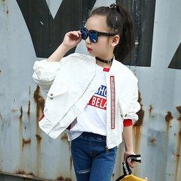 Crianças Primavera Outono Casaco para Meninas Moda Infantil Branco Bat Mangas Oversize Jaqueta Jaqueta Meninas Desgaste Da Escola Bomber Jacket em Promoção
