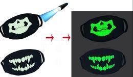 $enCountryForm.capitalKeyWord Australia - Skull Luminous Mask Ghost Skull Half Face Scary Horror Mask Flashing Face Mask Party Light Up Halloween