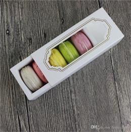 Vente en gros 5 tasses boîte emballage tiroir chaud nouvelle fenêtre Macaron boîte, boîte à gâteau, boîte de cadeau 200PCS / LOT
