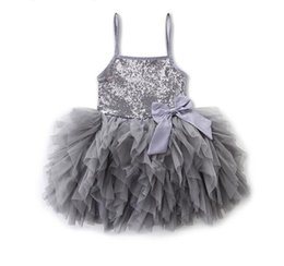size 2t tutu UK - 2019 new Explosion straps sequined princess dress baby girls dresses kids clothes size 2 - 5years Free shipping