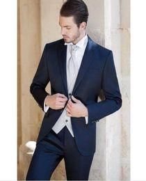 Suit Tie Clothes Red Australia - Terno Masculino Custume Homme Marriage Men Suits New Arrival Formal Brand Clothing Bule Blazer Men 3Pieces(Jacket+Pant+Tie+Vest)