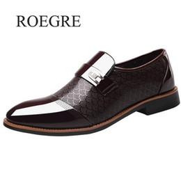 Men Slip Suits Australia - Size 38-48 Fashion Business Dress Men Shoes 2019 New Classic Leather Men's Suits Shoes Fashion Slip On Dress Men Oxfords