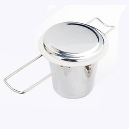 Teapot Infusers Australia - Luxury 304 Stainless Steel Silver Tea Strainer Folding Foldable Tea Infuser Basket For Teapot Cup Teaware
