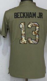 Exercise Shirts Australia - Youth New York 13 Jersey 26 Children Shirts Boys Embroidery and 100% stitched Olive Salute to Service Limited American Football jerseys